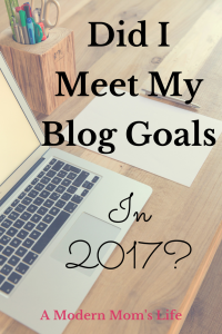 Did I Meet My Blog Goals in 2017?