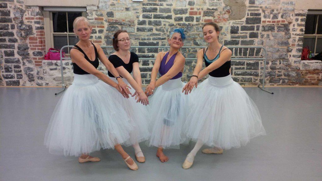 Taking ballet classes teaching children through example