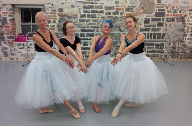 Taking ballet classes