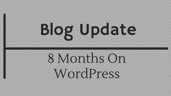 8 months on wordpress