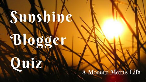 sunshine blogger quiz
