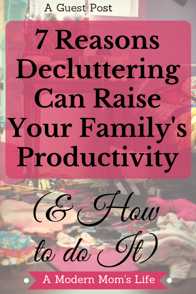 Decluttering can help you get more done