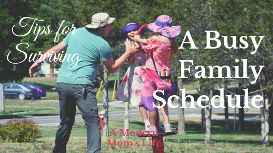 Surviving a busy family schedule