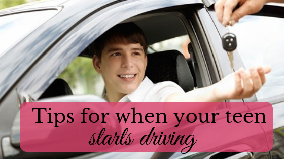 when your teen starts driving