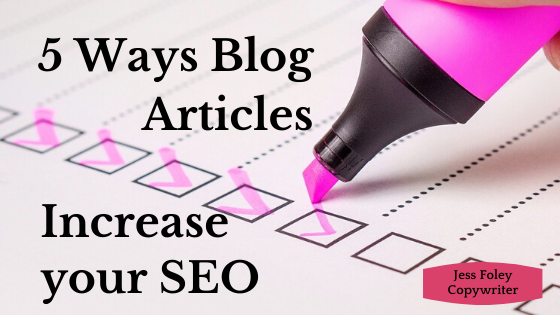 ways blog articles increase your SEO